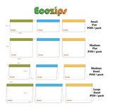 Ecozips Small Flat Reusable Bag 3 Pack