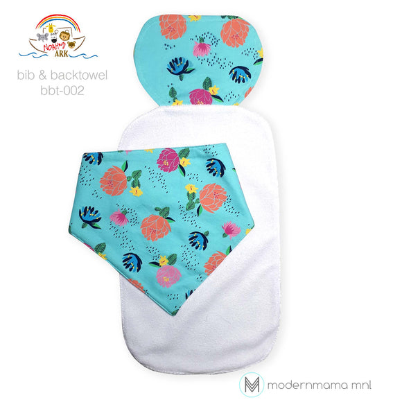 Noah's Ark Bib / Bibdana and Backtowel Set