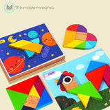 Joan Miro Geometric Blocks Square Tangram