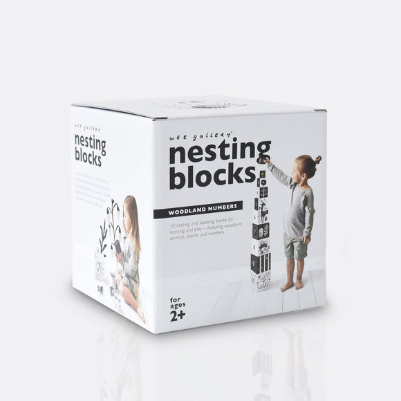 Nesting Blocks - Woodland Numbers by Wee Gallery
