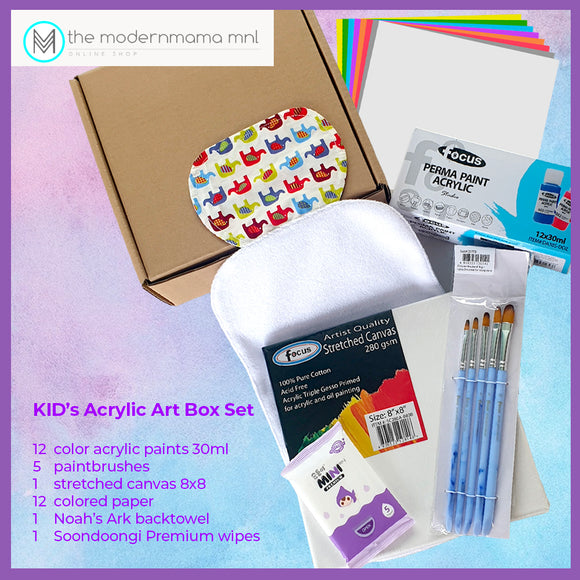 Kid's Acrylic Art Box Set 4+up (Gift Idea)