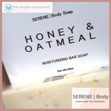 Serene Body Face & Body Soap (Honey Oatmeal, Rose Hips, Charcoal