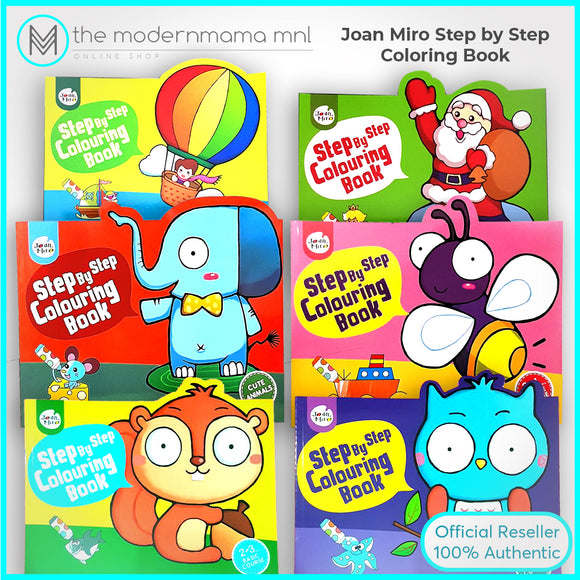 Joan Miro Step by Step Colouring Book