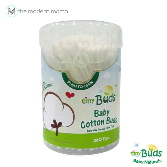 Tiny Buds New! Natural Cotton Buds (360's)