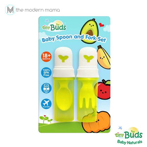 Tiny Buds Baby Spoon & Fork Set with Tavel Cover