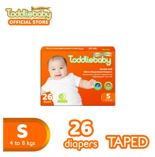 Toddliebaby Baby Diapers- Hypoallergenic, Chlorine-free
