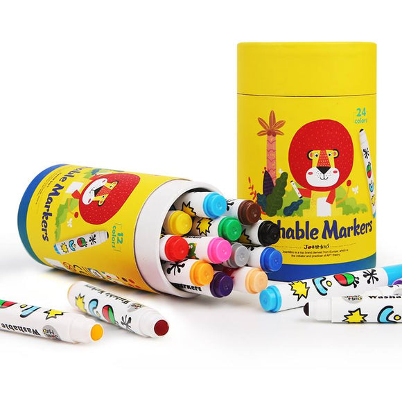 Joan Miro Washable Markers Round Tip 12 Colors