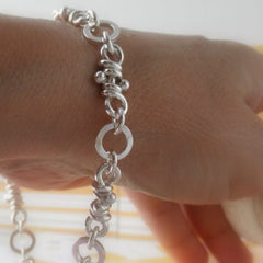 Maga sterling silver knots bracelet, for her or him