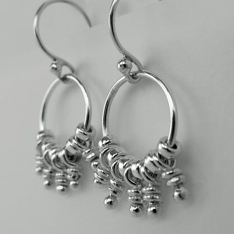Haru sterling silver knot earrings