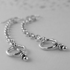 Whim silver chain & knot earrings