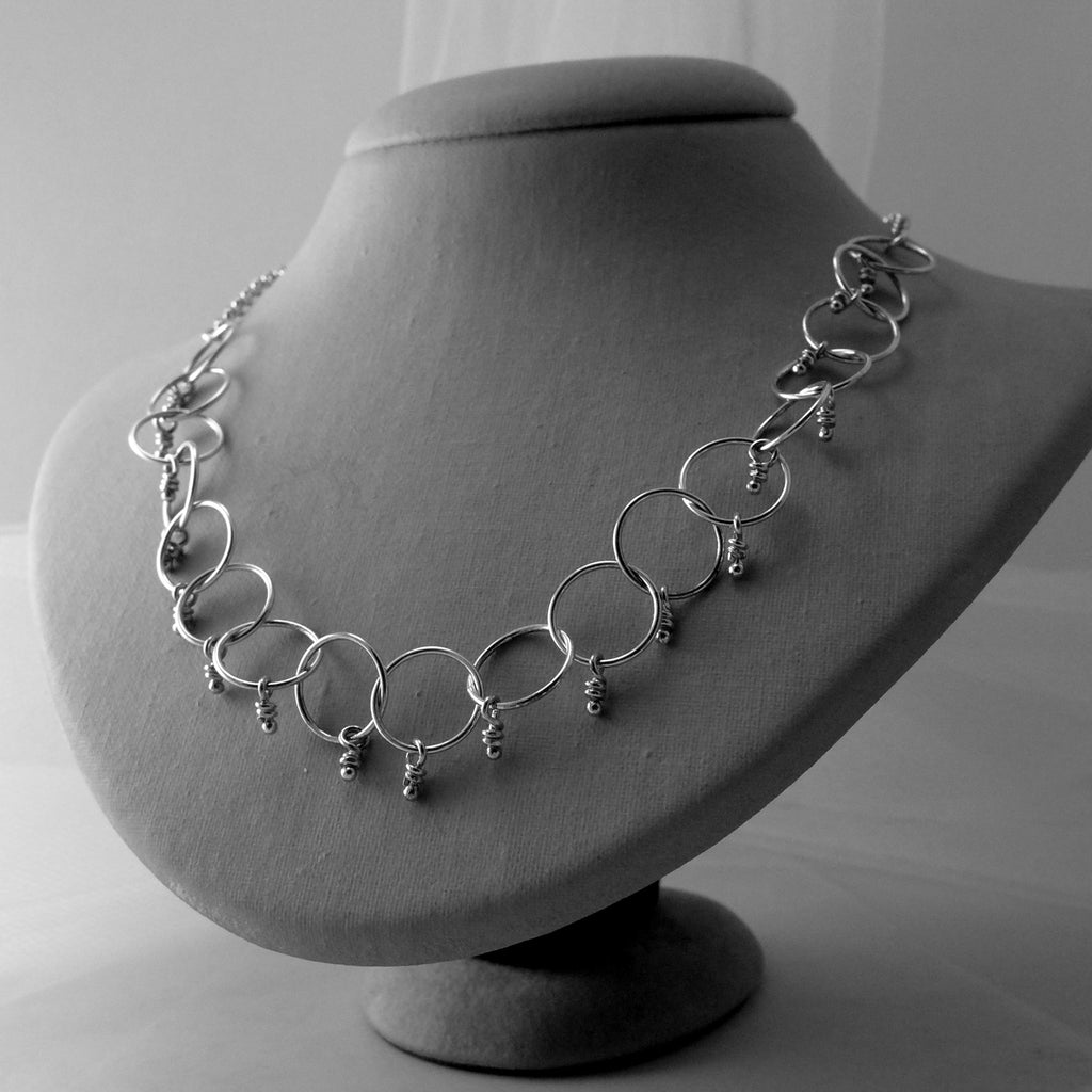Loops sterling silver chain necklace