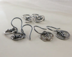 Daire sterling silver tiny earrings