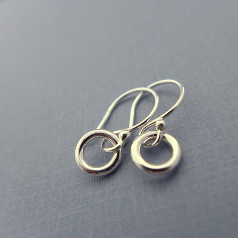 Asia sterling silver tiny earrings