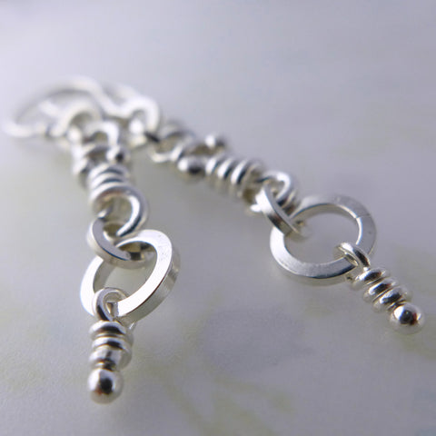 Ina sterling silver knot earrings