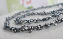 Tao sterling silver necklace. Dark finish