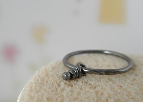 Knot sterling silver rustic ring. Size 8.5