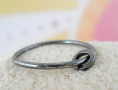 Ring-Ring sterling silver rustic oxidized ring. Size 7