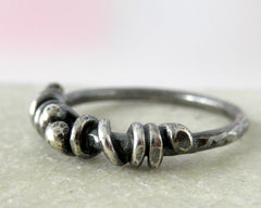 Unico sterling silver rustic ring. Size 5.5