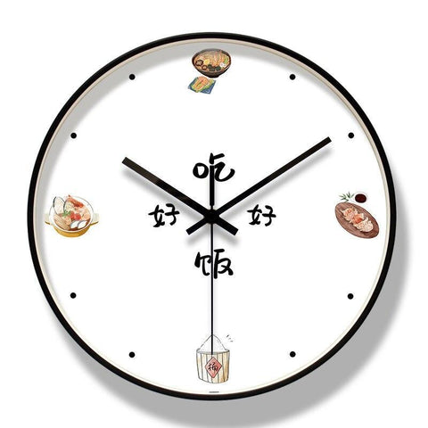 Horloge Moderne Asian Food