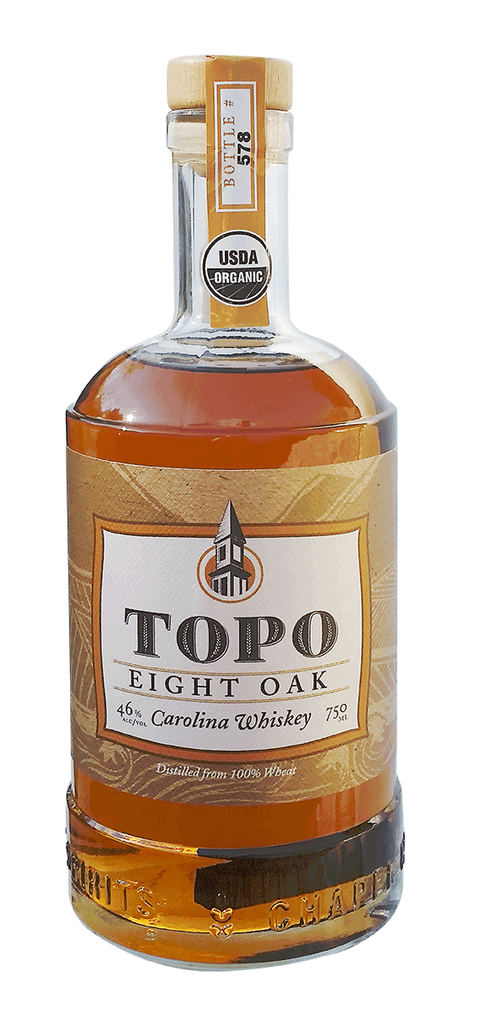 TOPO Organic Eight Oak Carolina Whiskey