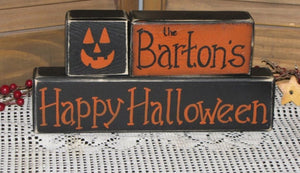Happy Halloween *Personalized blocks*  Saturday, October 24th                                                                                                                3:00 PM