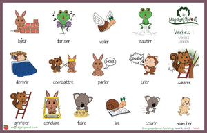 Super Hero Verbs Mat