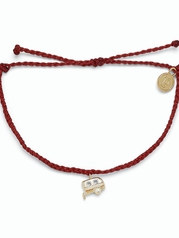 Pura Vida Charm Bracelet - On the Road - Dark Red