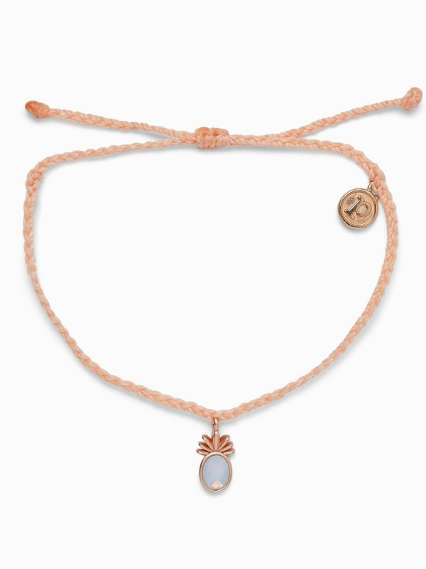 Pura Vida Charm Bracelet - Tropical Breeze - Rose Gold - Blush