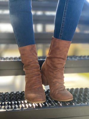 Preston Midi Booties - Brown