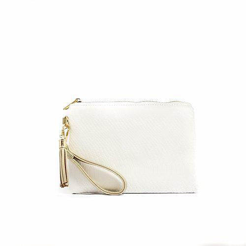 Tourist Wristlet - Brilliant White Embossed