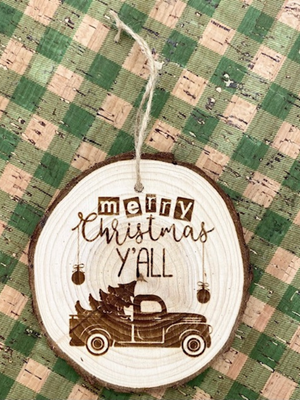 Merry Christmas Y'll Ornament
