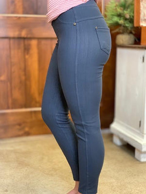 London Jeggings - Charcoal