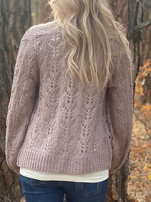 Layla Sweater Cardigan in Winter Lavender