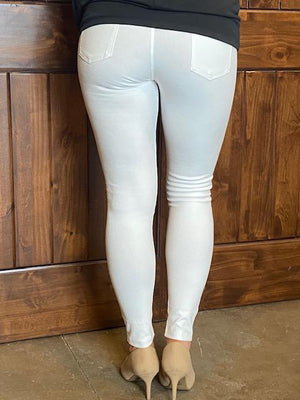London Jeggings - White