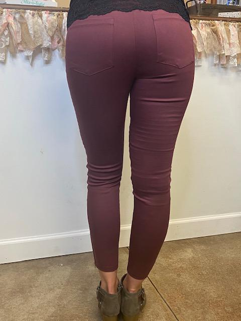 Original Moto Jeggings - Wine