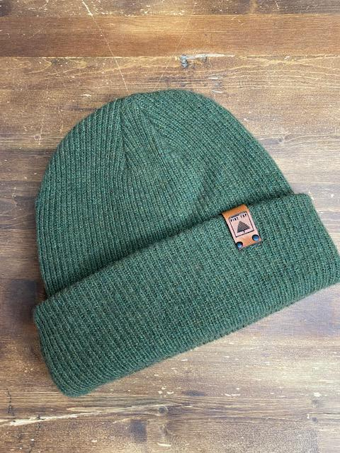 Pine Top Men's Wool Beanie in Forest Green