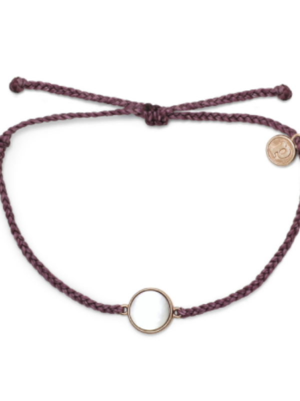 Pura Vida Bracelet - Mother of Pearl Rose Gold - Dark Lilac
