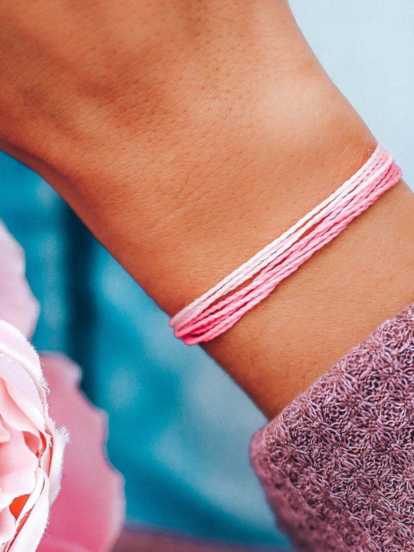 Pura Vida Charity Bracelet - Breast Cancer