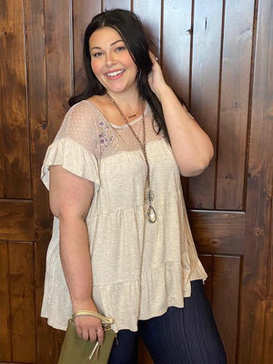Leanna Top with Floral Embroidered Detail