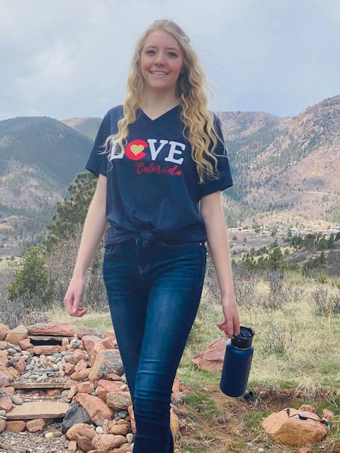 Love Colorado Tee in Navy