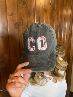 Colorado Charcoal Floral Hat
