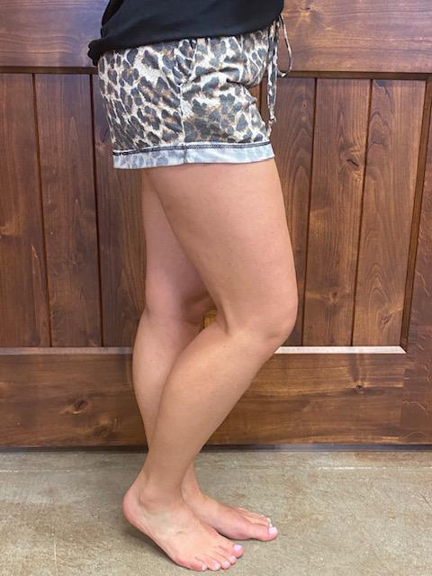 Chelsea Cheetah Print Lounger Shorts