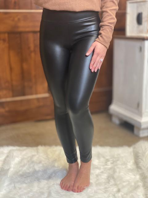 Bren Black Faux Leather Leggings