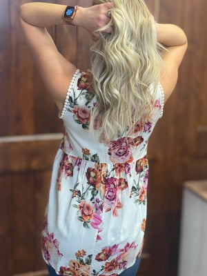 Livia Floral Sleeveless Top