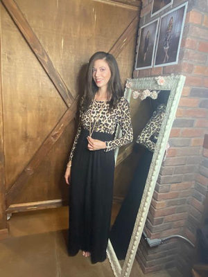 Selma Leopard Print Maxi Dress