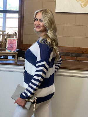 Stevie Striped Knit Sweater