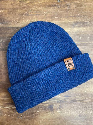 Pine Top Men's Wool Beanie In Navy Blue