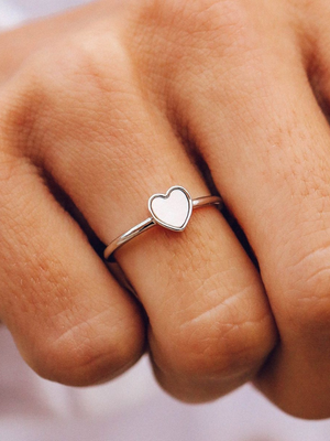 Pura Vida Ring - Heart of Pearl - Silver