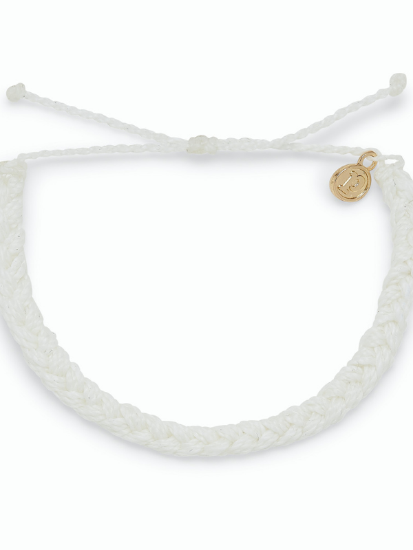 Pura Vida - Braided Bracelet - White