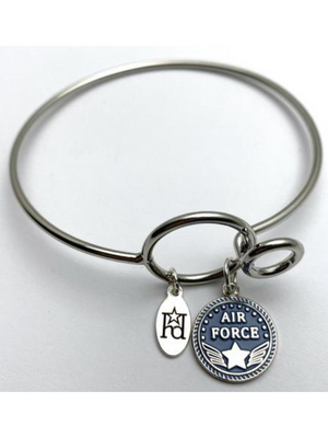 Air Force Memory Wire Bracelet